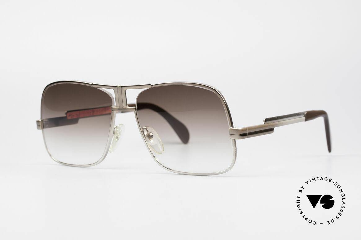 Cazal 701 Ultra Seltene 70er Sonnenbrille, einzigartiger Lackierungsverlauf von braun zu silber, Passend für Herren
