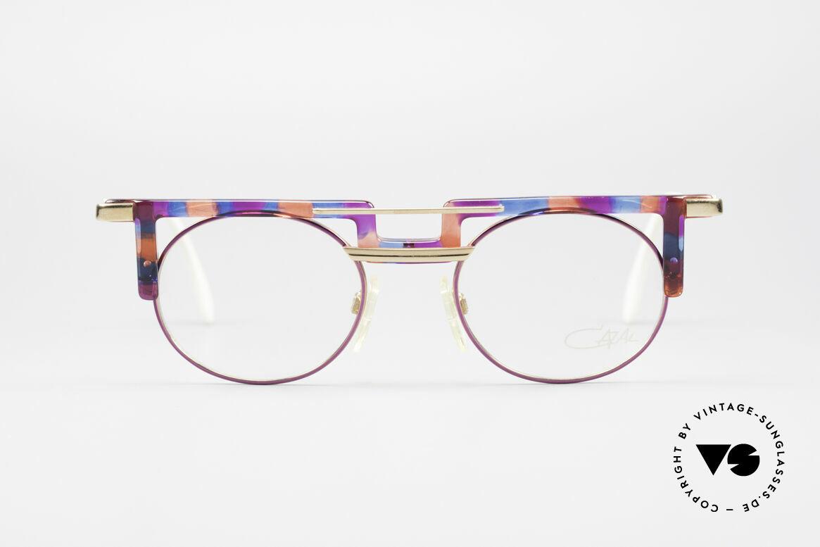 Cazal 745 Markante 90er Vintage Brille, tolle Kombination von Formen, Farben & Materialien, Passend für Damen
