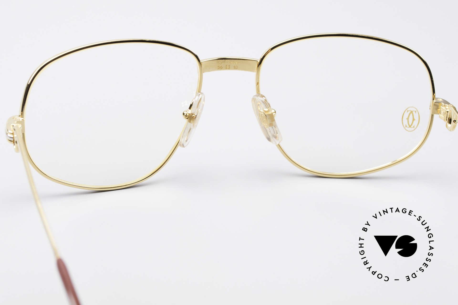 Cartier Romance LC - M Luxus Designer Fassung, 22kt vergoldete Fassung (wie alle alten CARTIER Brillen), Passend für Herren und Damen