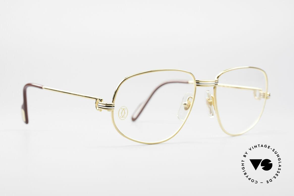 Cartier Romance LC - S Luxus Designer Brille, dieses Modell mit LC-Dekor in SMALL Größe 54-16, 130, Passend für Herren und Damen