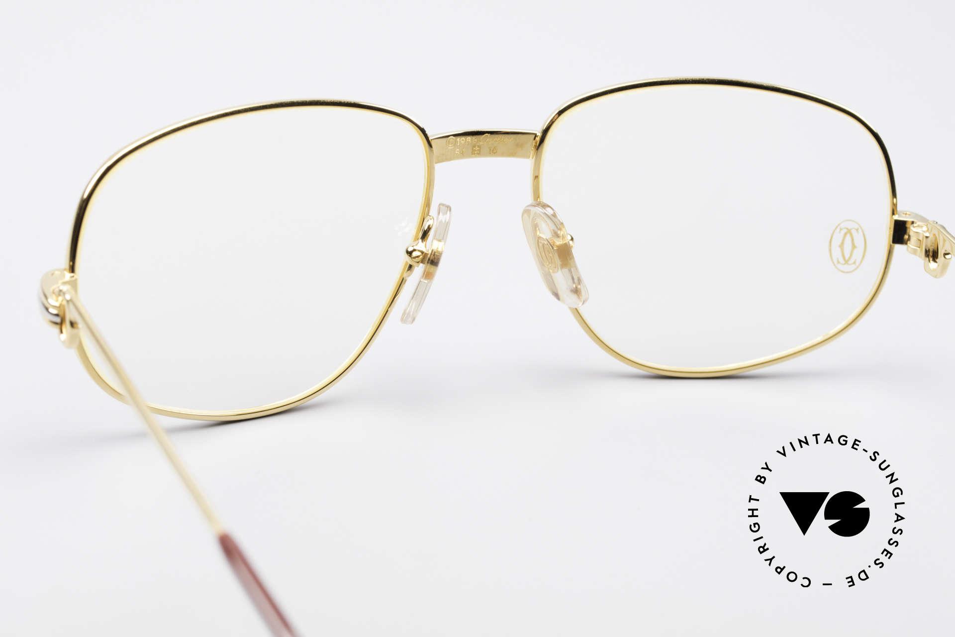 Cartier Romance LC - S Luxus Designer Brille, 22kt vergoldete Fassung (wie alle alten CARTIER Brillen), Passend für Herren und Damen