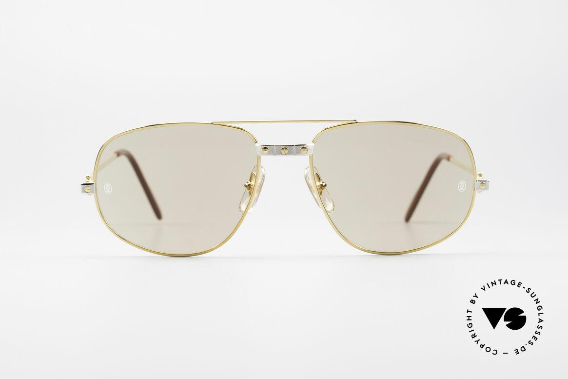 Cartier Romance Santos - L Luxus Sonnenbrille, vintage CARTIER Luxus-Sonnenbrille; Modell ROMANCE, Passend für Herren