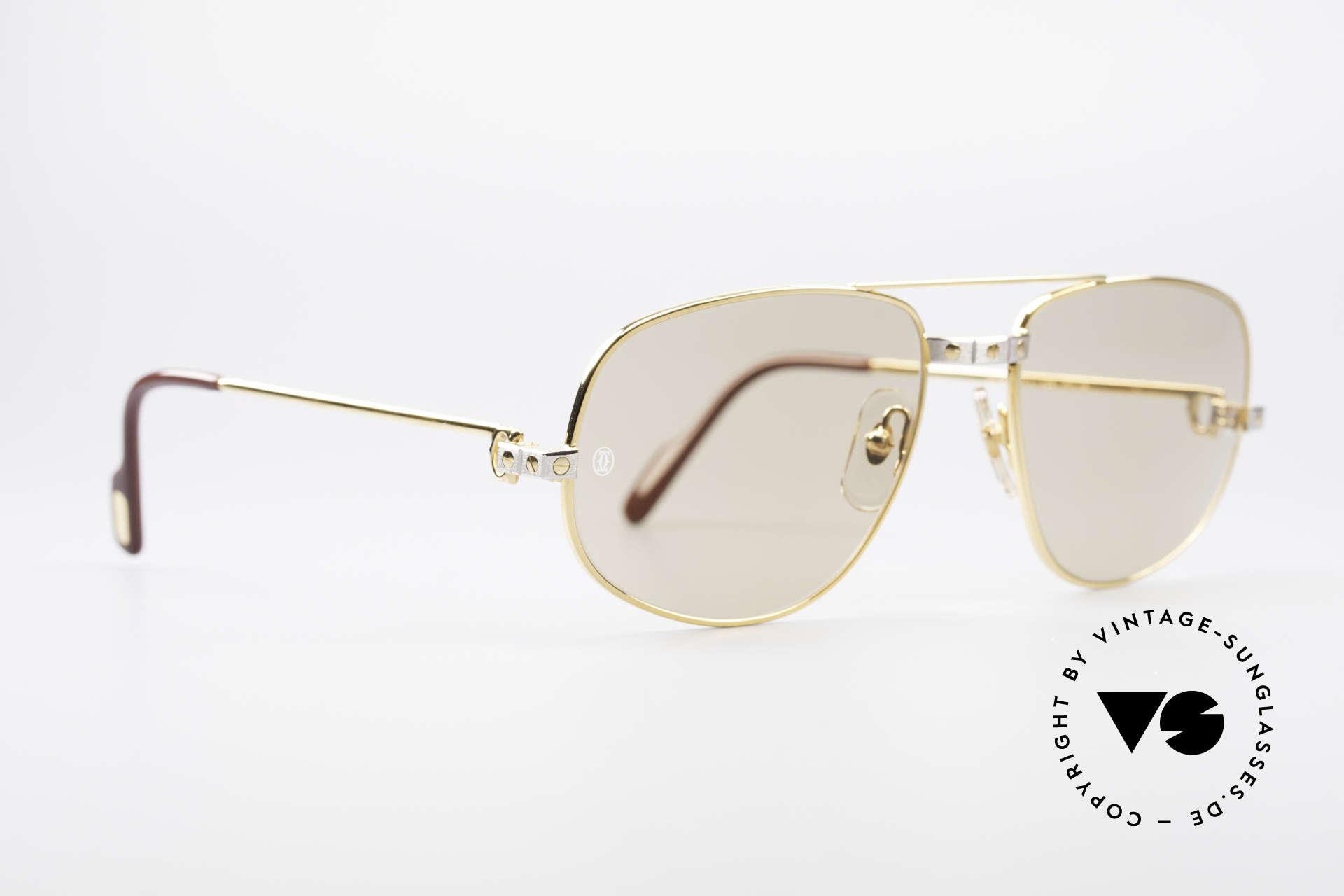 Cartier Romance Santos - L Luxus Sonnenbrille, dieses Mod. mit SANTOS-Dekor & LARGE Gr. 58-18, 140, Passend für Herren
