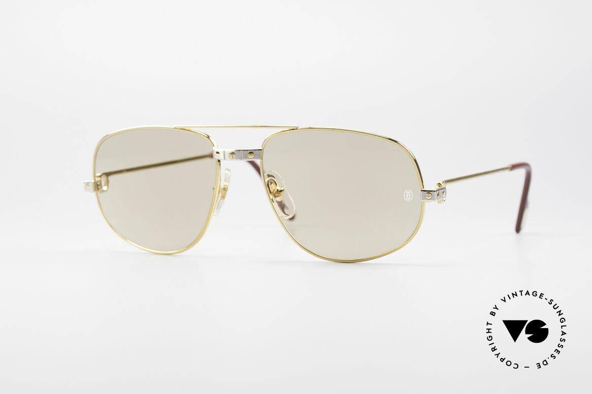 Cartier Romance Santos - L Luxus Sonnenbrille, wurde 1986 veröffentlicht und dann bis 1997 produziert, Passend für Herren