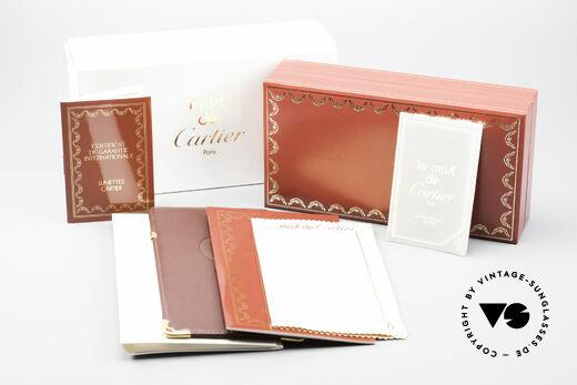 Cartier Romance Santos - L Luxus Sonnenbrille, ungetragen mit OVP (selten in diesem Zustand zu finden), Passend für Herren