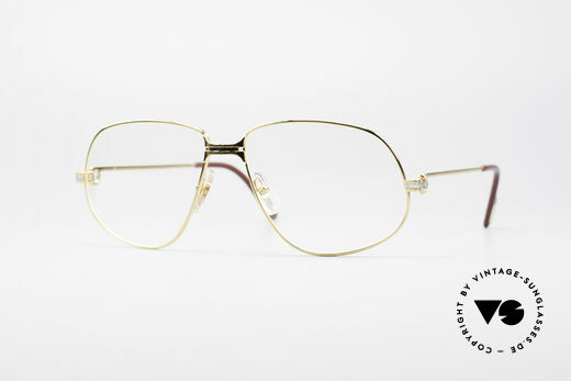 Cartier Panthere G.M. - XL 80er Luxus Brille Details