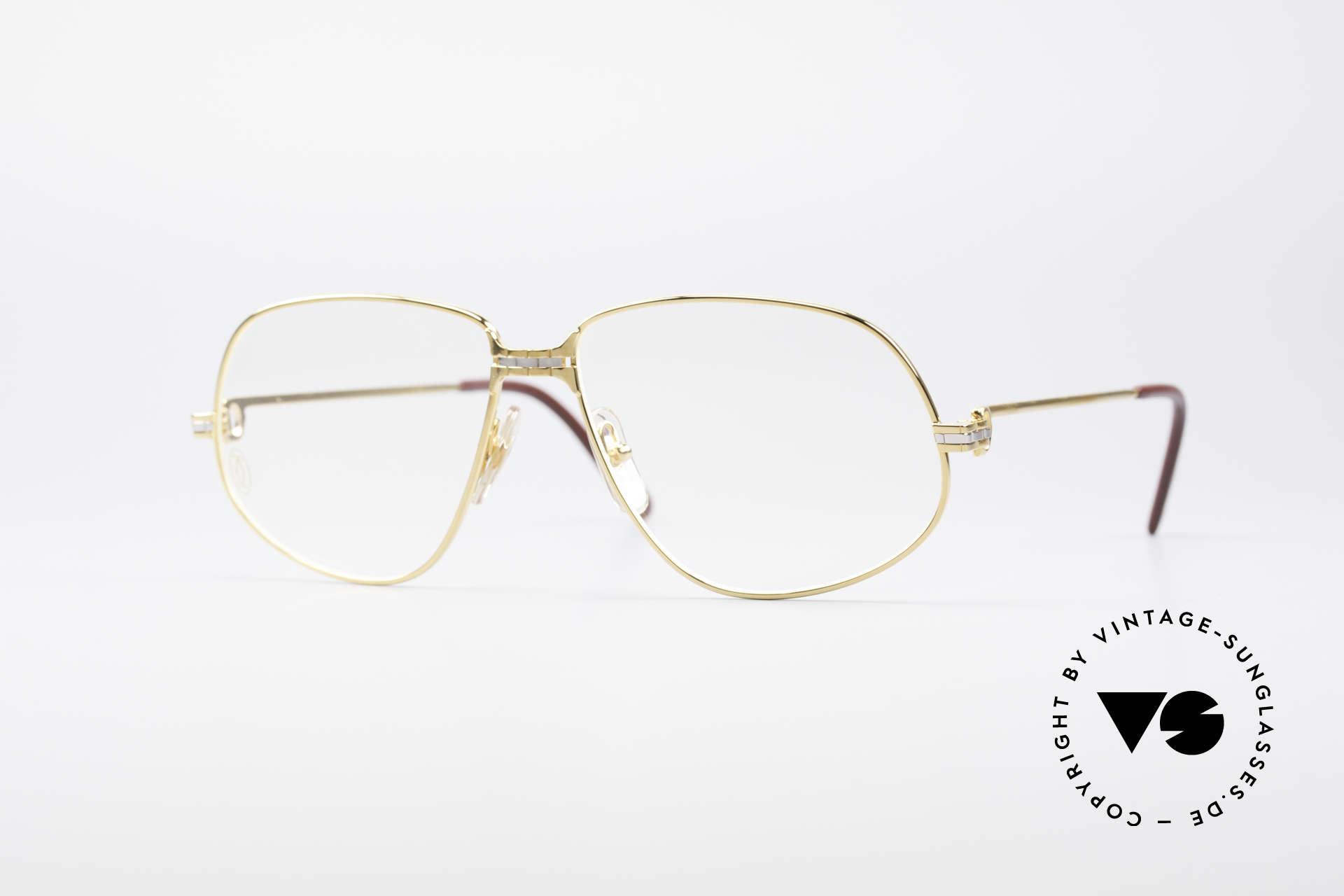 Cartier Panthere G.M. - L 1980er Luxus Brillenfassung, Cartier Panthère = der berühmte Panther von CARTIER, Passend für Herren