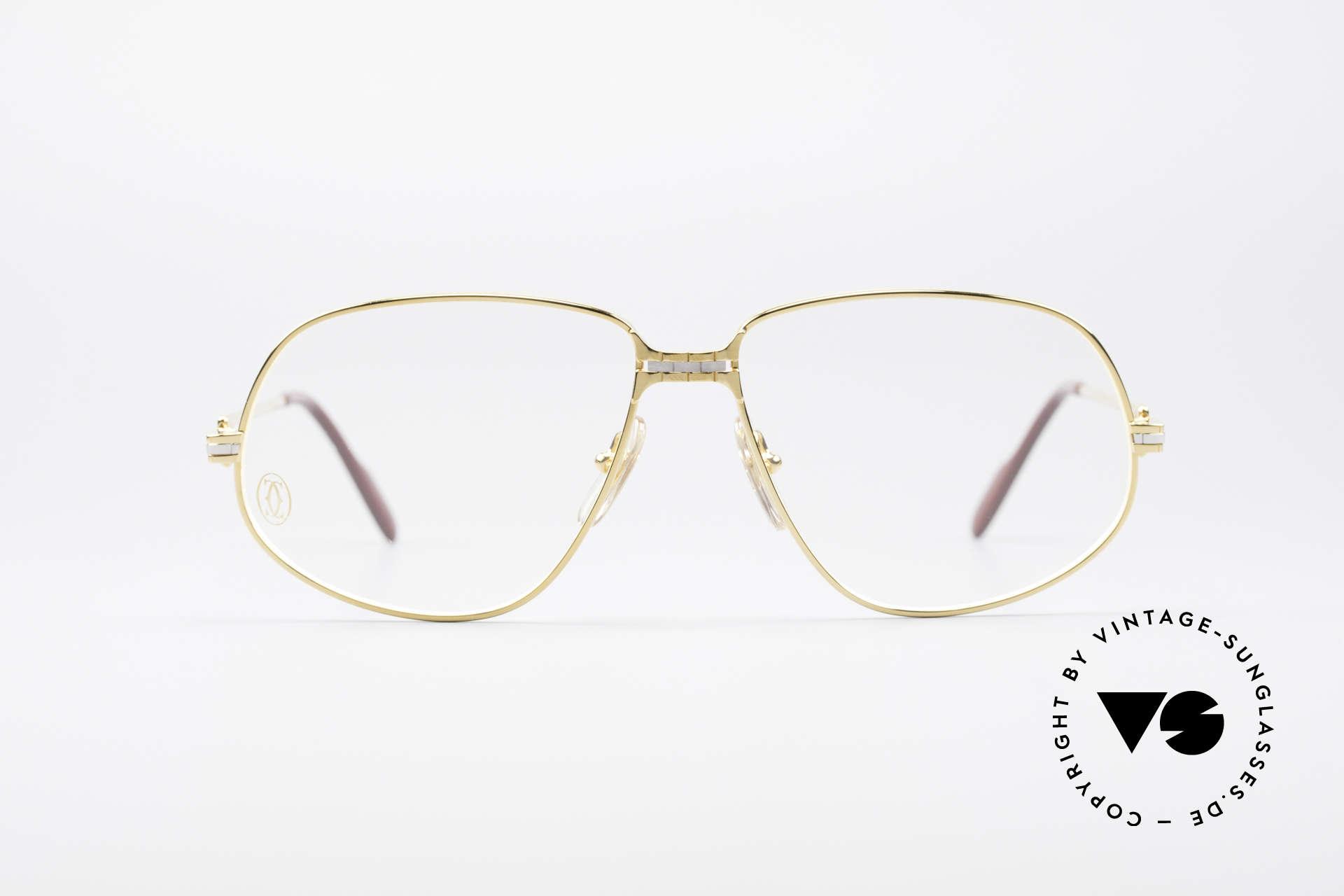"""Cartier Panthere G.M. - L 1980er Luxus Brillenfassung, G.M. = """"Grande Modèle"""" (für Monsieur / den Gentleman), Passend für Herren"""