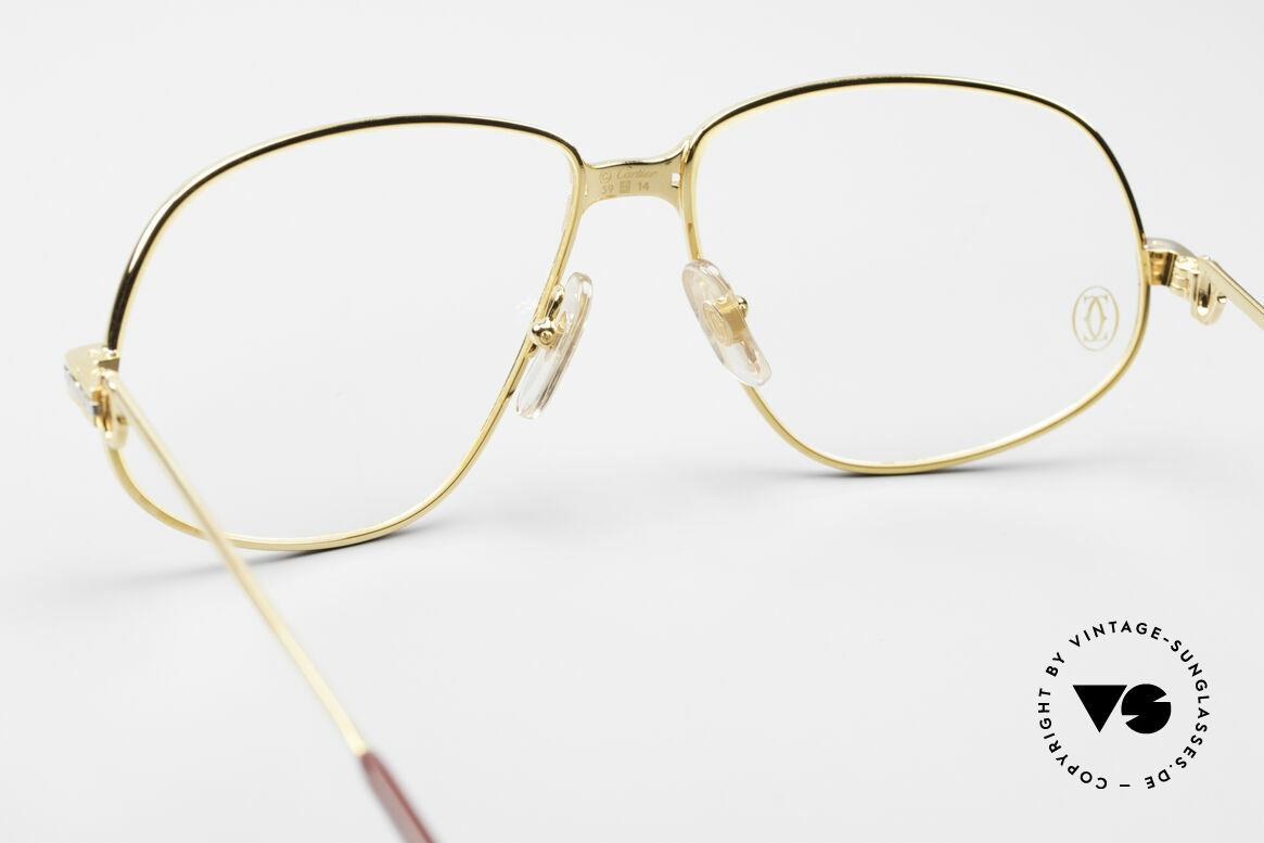 Cartier Panthere G.M. - L 80er Luxus Fassung, teure Luxus-Brillenfassung in LARGE Größe 59-14, 140, Passend für Herren
