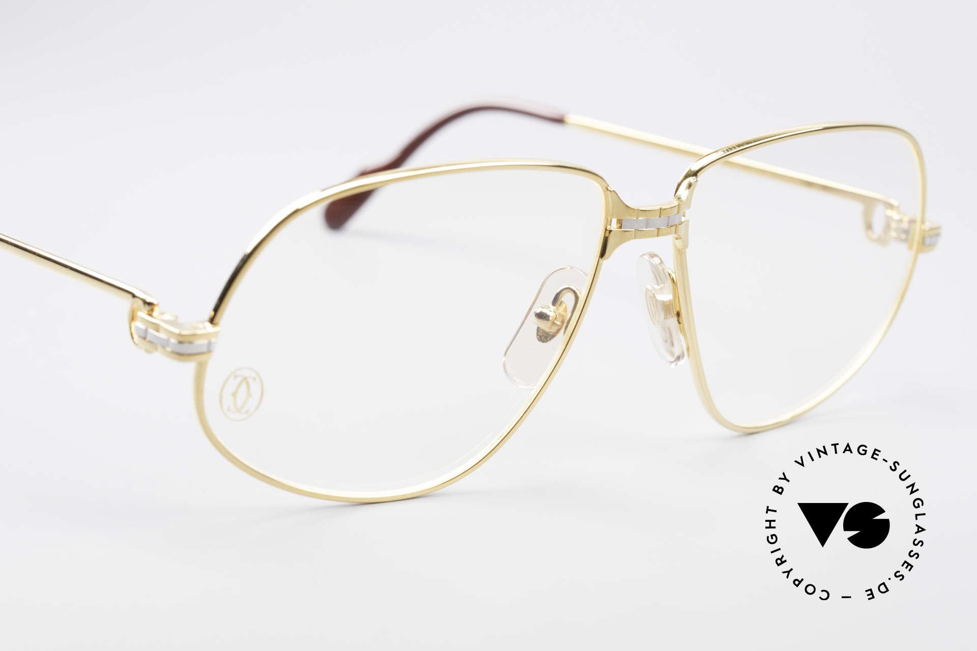 Cartier Panthere G.M. - L 80er Luxus Fassung, 22kt vergoldete Fassung (wie alle alten Cartier Brillen), Passend für Herren