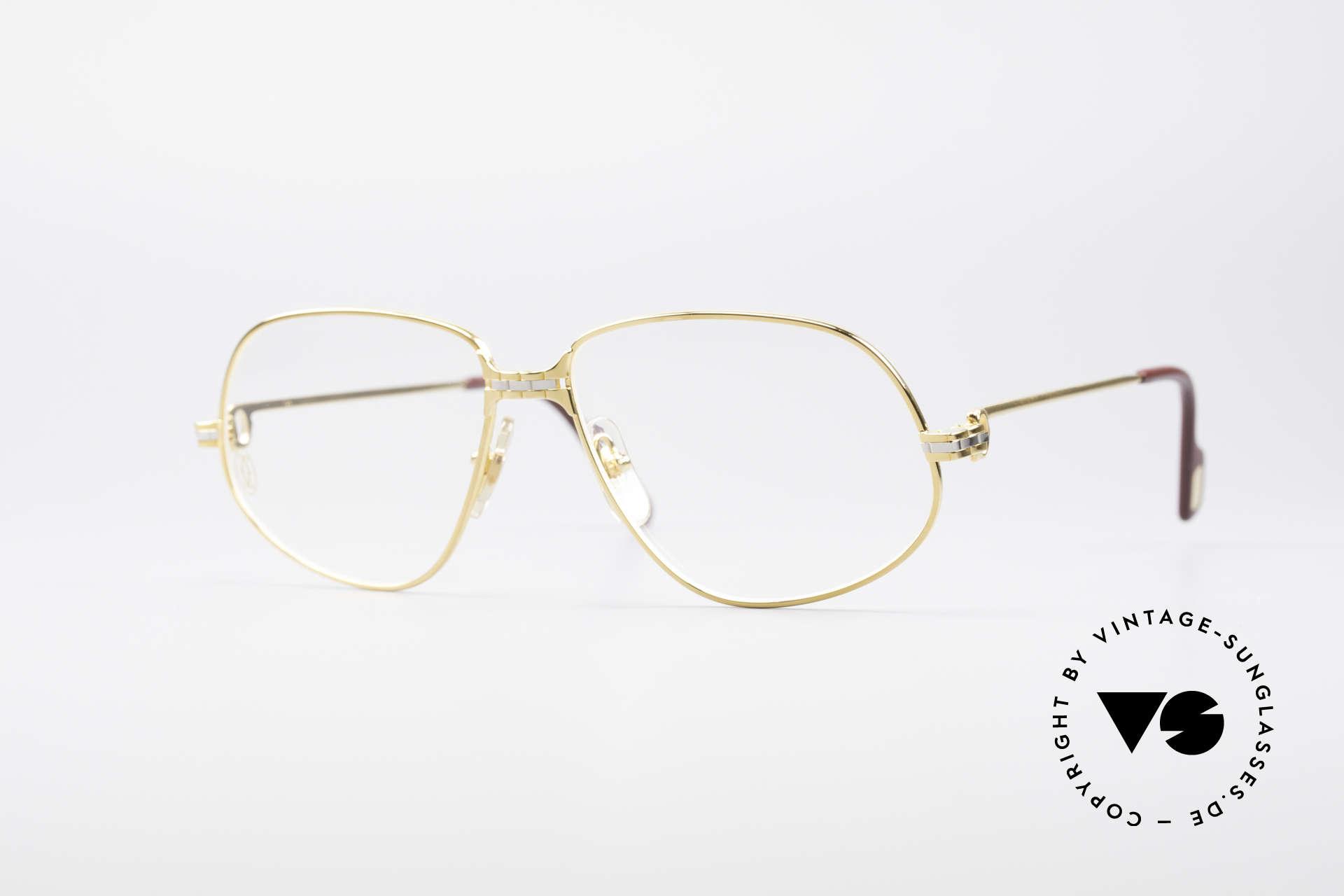 Cartier Panthere G.M. - M Luxus Vintage Brille 1980er, Cartier Panthère = der berühmte Panther von CARTIER, Passend für Herren