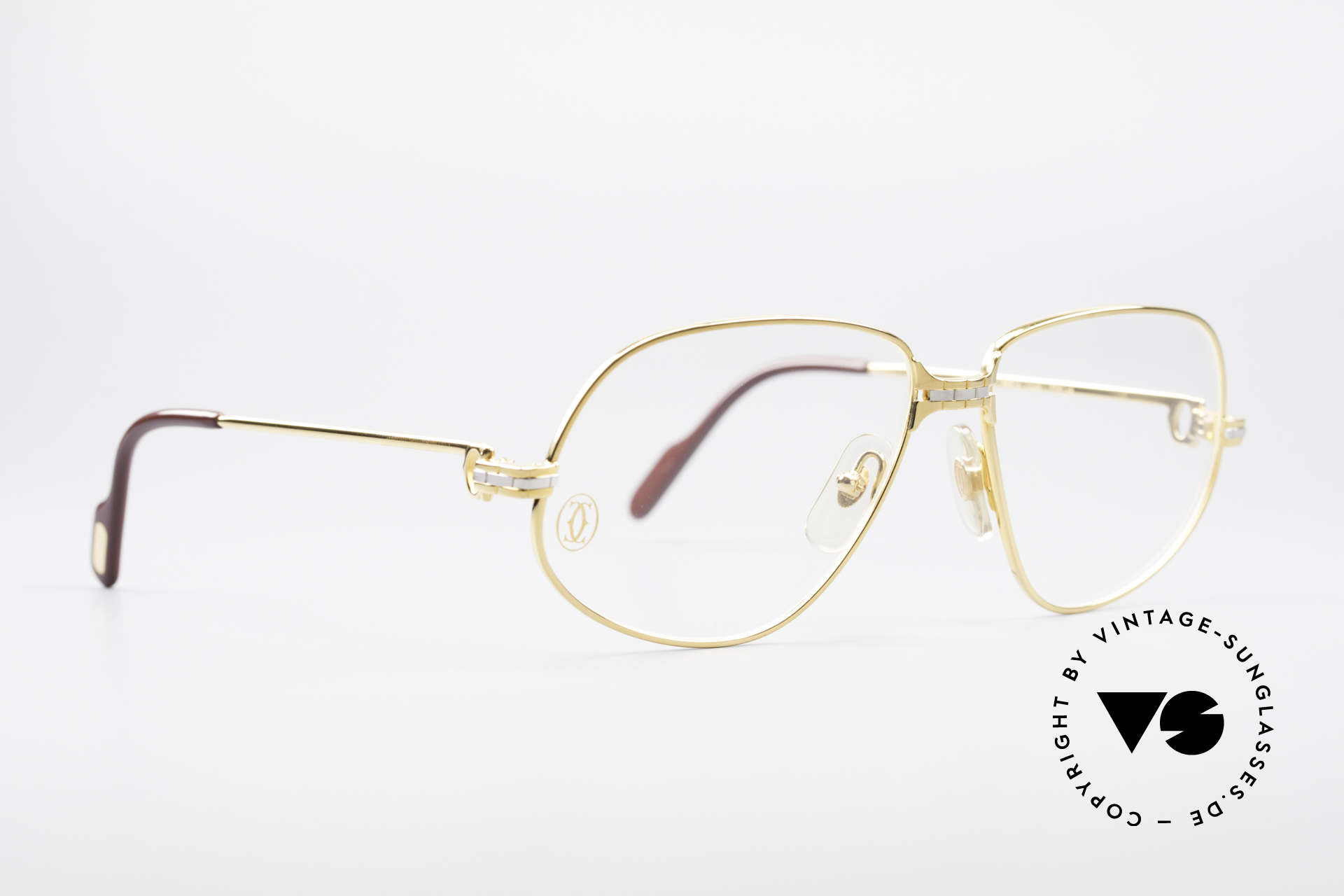 Cartier Panthere G.M. - M Luxus Vintage Brille 1980er, wurde 1988 veröffentlicht und dann bis 1997 produziert, Passend für Herren