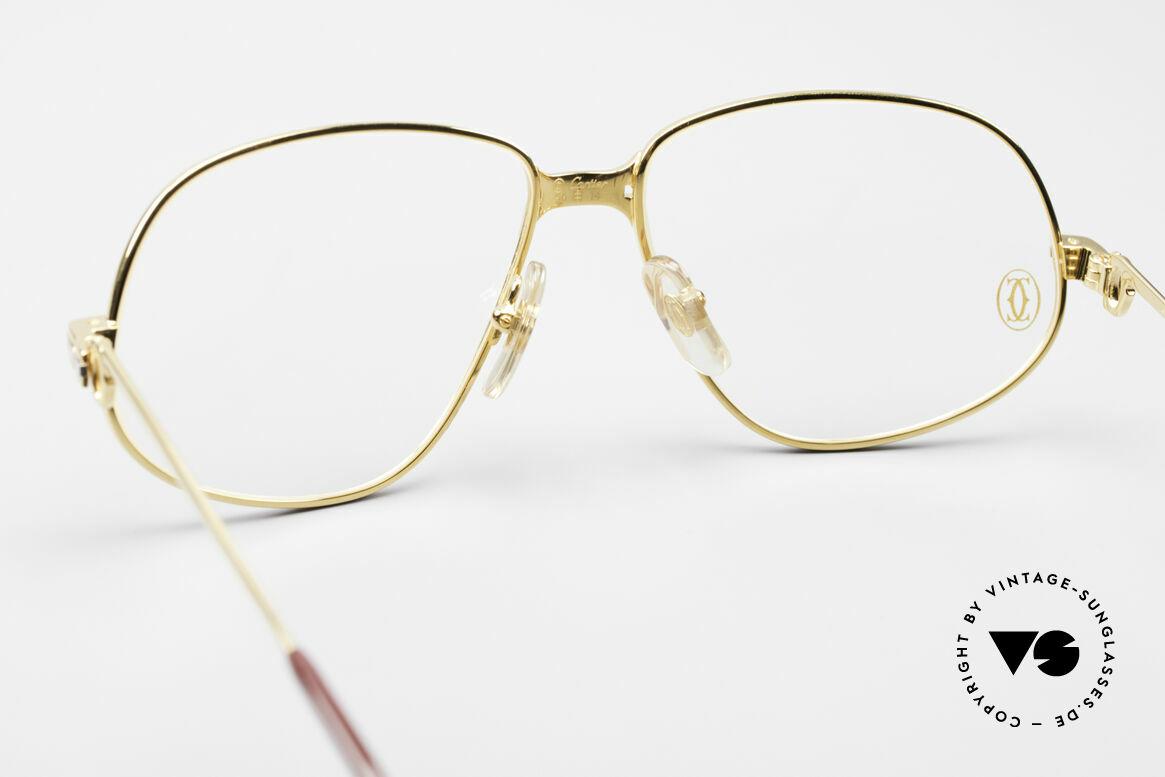 Cartier Panthere G.M. - M Luxus Vintage Brille 1980er, teure Luxus-Brillenfassung in Medium Größe 56-14, 135, Passend für Herren