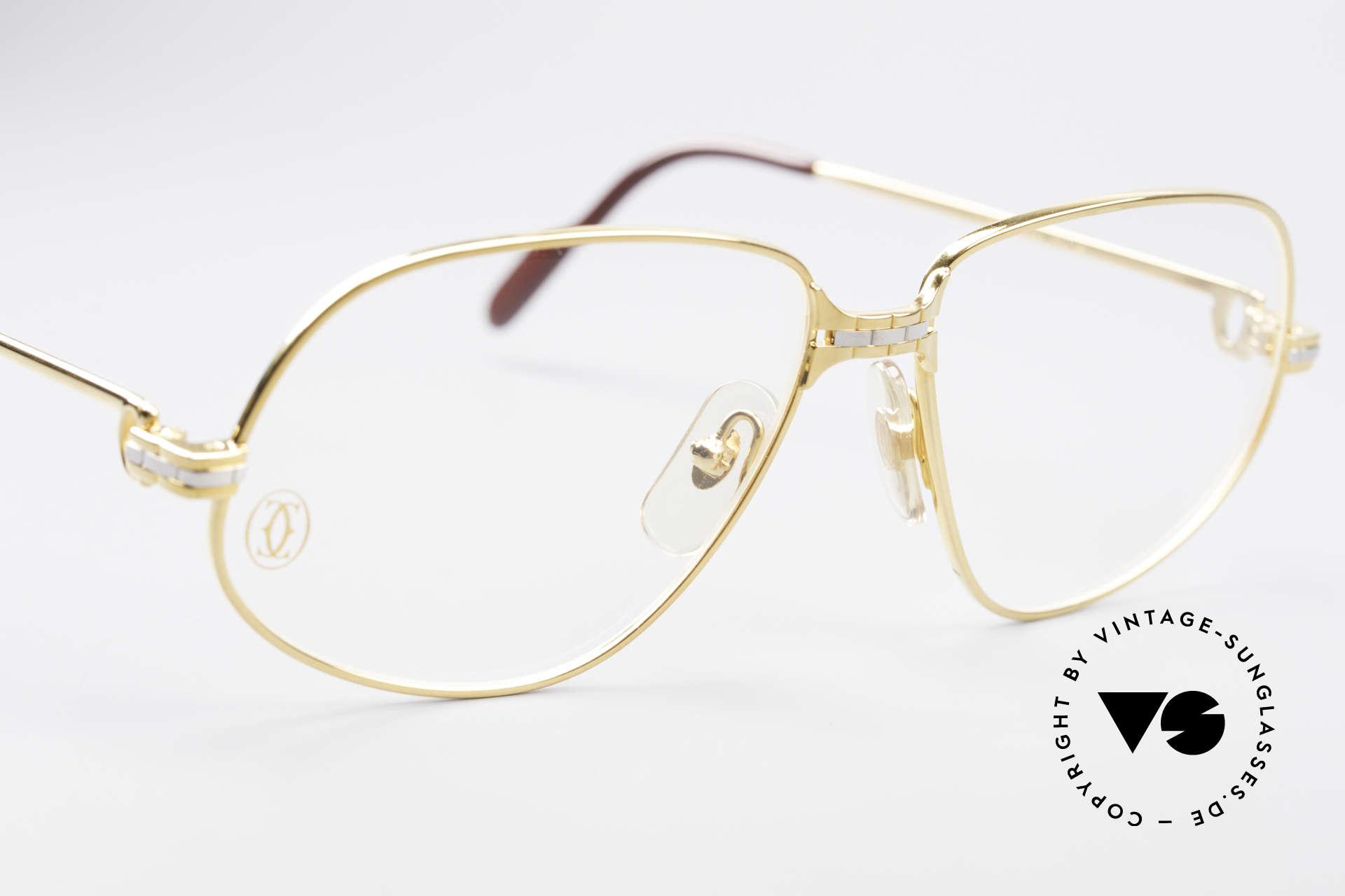 Cartier Panthere G.M. - M Luxus Vintage Brille 1980er, 22kt vergoldete Fassung (wie alle alten CARTIER Brillen), Passend für Herren