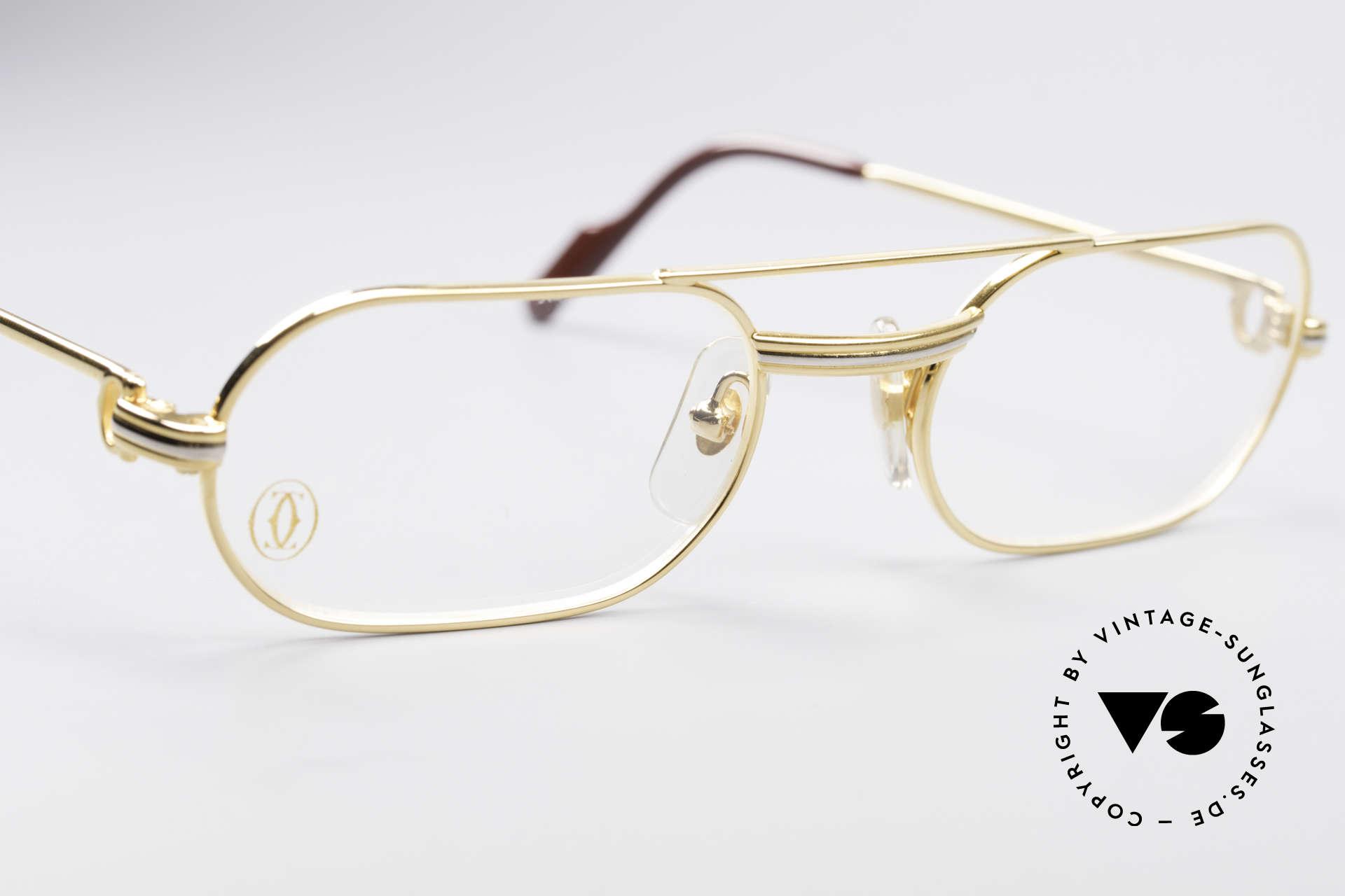 Cartier MUST LC - S Elton John Luxus Fassung, 22kt vergoldet (wie alle alten Cartier Luxus-Brillen), Passend für Herren