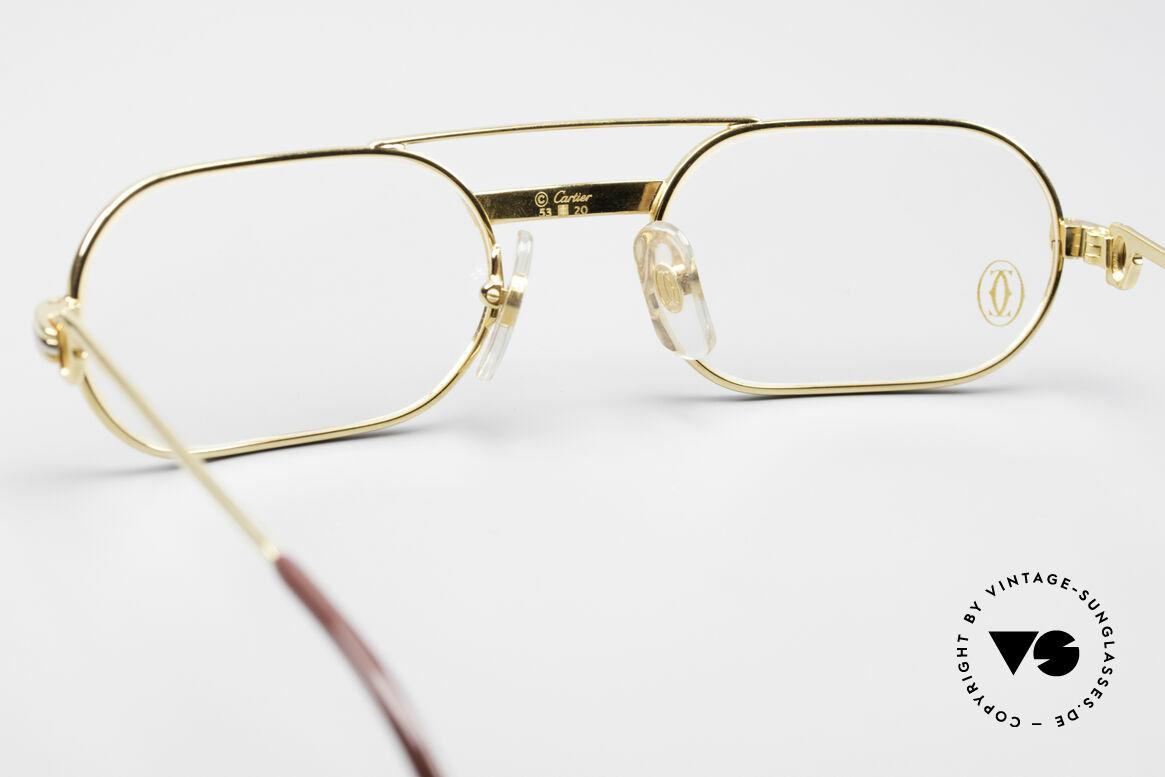 Cartier MUST LC - S Elton John Luxus Fassung, ungetragen mit OVP (in diesem Zustand sehr selten), Passend für Herren