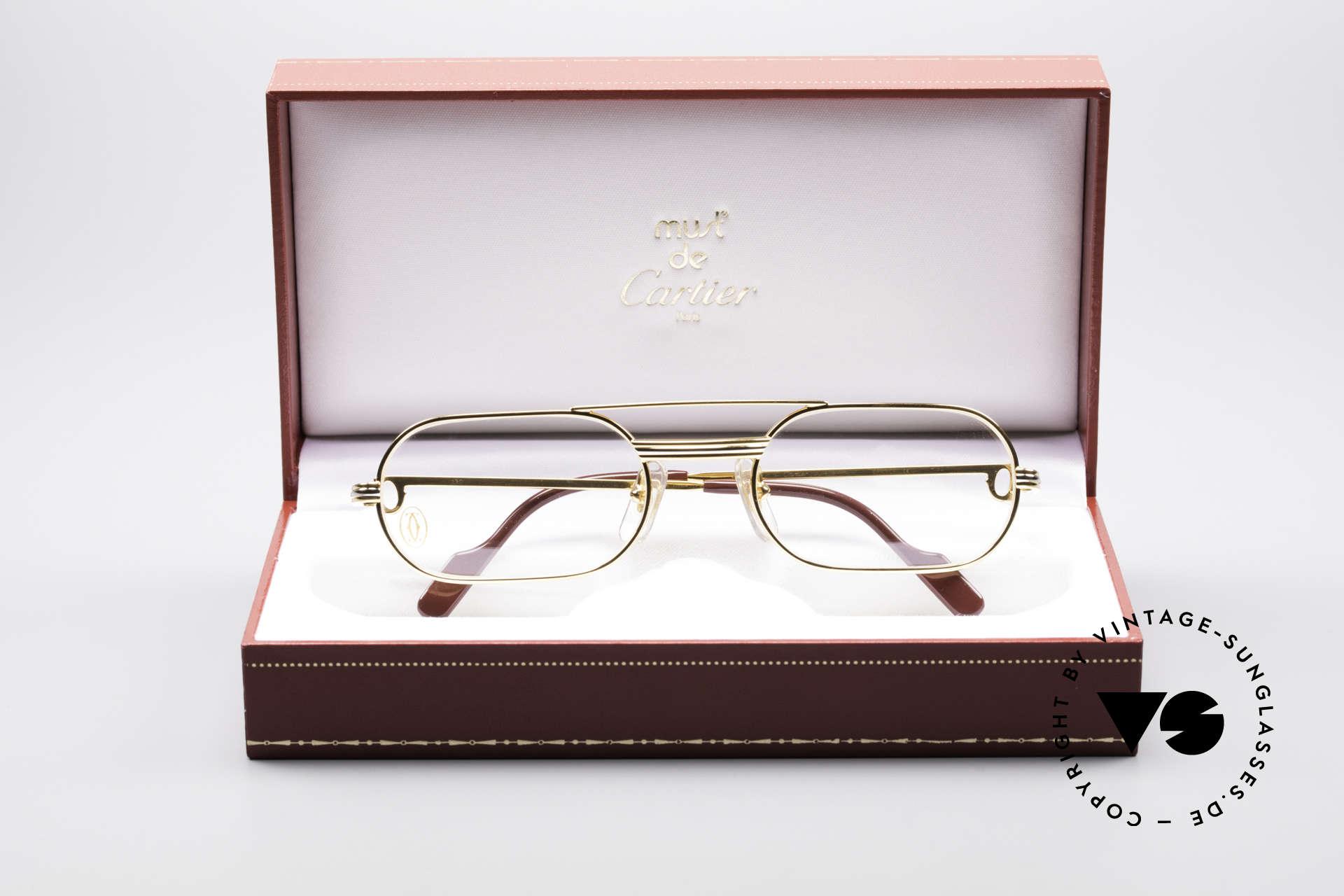 Cartier MUST LC - S Elton John Luxus Fassung, KEIN RETRO; ein 35 Jahre altes vintage ORIGINAL!, Passend für Herren