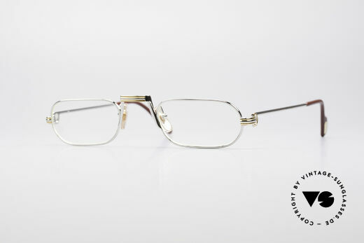 Cartier Demi Lune LC Platin Luxus Lesebrille Details