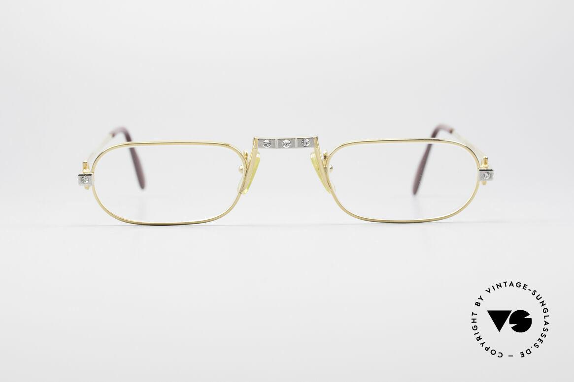 Cartier Demi Lune Santos Crystal Edition, Demi Lune = die berühmte Luxus-Lesebrille von Cartier, Passend für Herren und Damen
