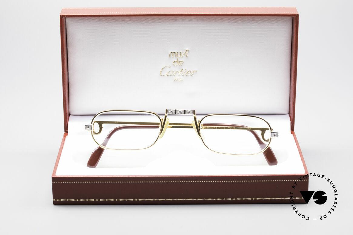 Cartier Demi Lune Santos Crystal Edition