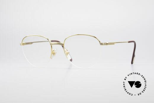 Cartier Colisee Runde Luxus Brillenfassung Details