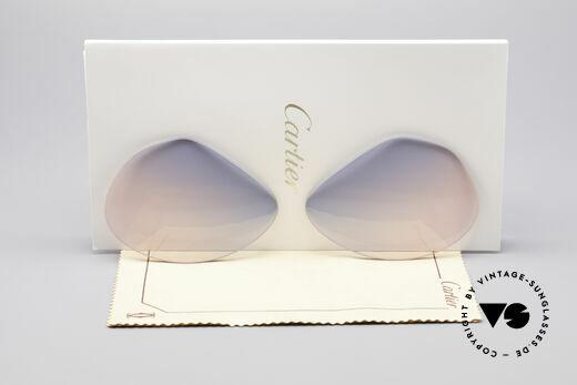 Cartier Vendome Lenses - L Gläser Blau Pink Verlauf Details