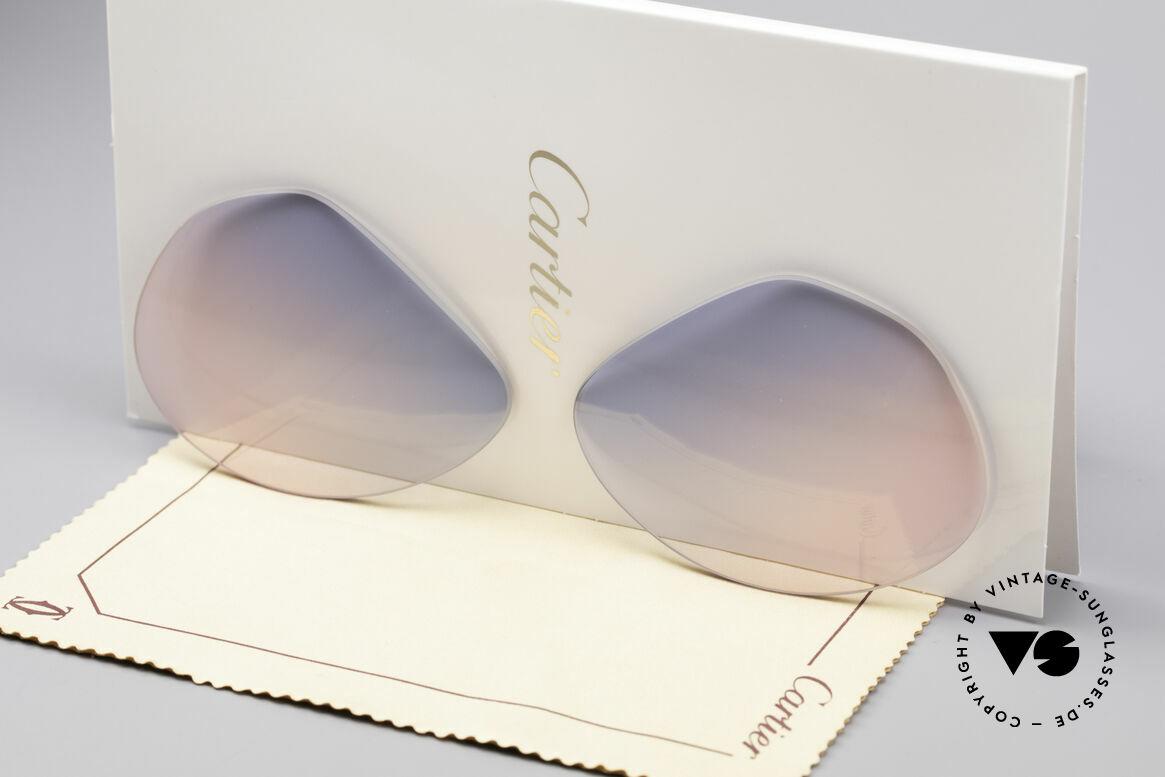 Cartier Vendome Lenses - L Gläser Blau Pink Verlauf, neue CR39 UV400 Kunststoff-Gläser (100% UV Schutz), Passend für Herren