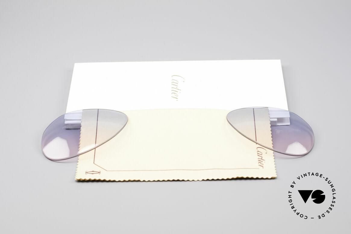 Cartier Vendome Lenses - L Gläser Blau Pink Verlauf, von unserem Optiker gefertigt: daher neu & kratzerfrei, Passend für Herren