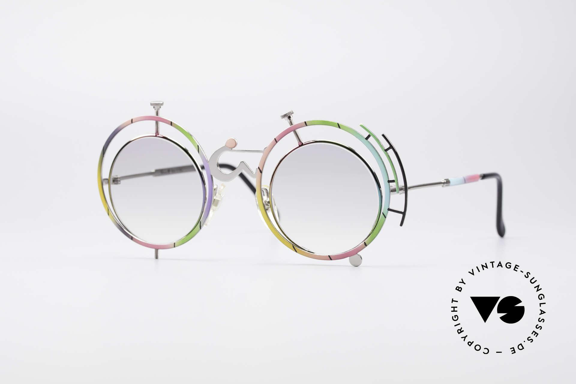Casanova SC3 Simbolismo Stillstand der Zeit, vintage 80er Jahre Kunst-Designerbrille von Casanova, Passend für Herren und Damen
