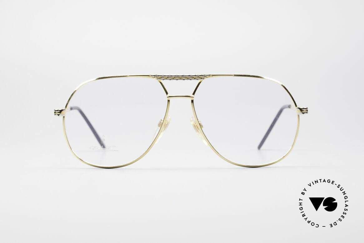 Bugatti EB502 - XL 90er Luxus Pilotenbrille, vintage Bugatti Brillengestell in unglaublicher Qualität, Passend für Herren