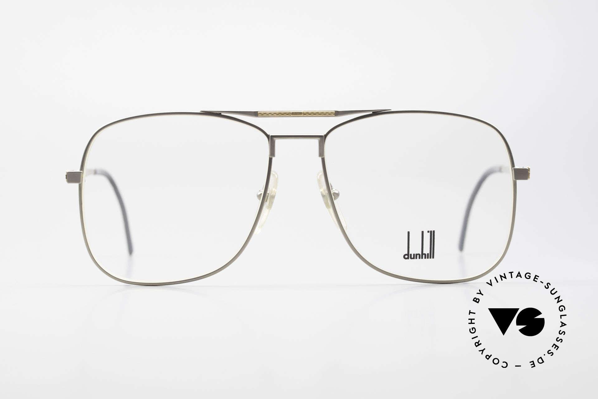 Dunhill 6038 18kt Gold Titanium Brille 80er, A. DUNHILL Titan-Brillenfassung mit 18kt Gold-Dekor, Passend für Herren