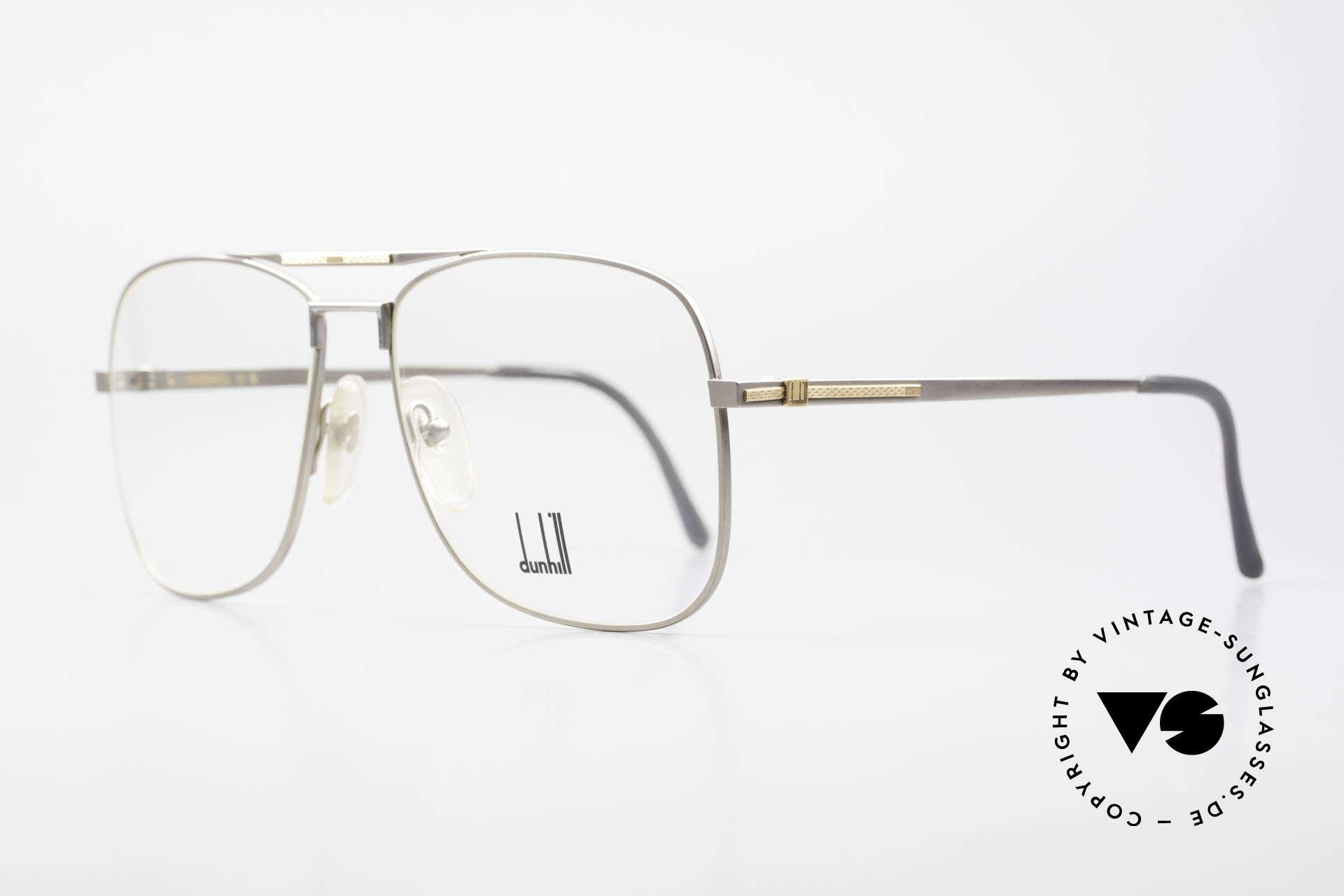 Dunhill 6038 18kt Gold Titanium Brille 80er, Produktionskosten 1986 für dieses Modell = 120,- DM, Passend für Herren