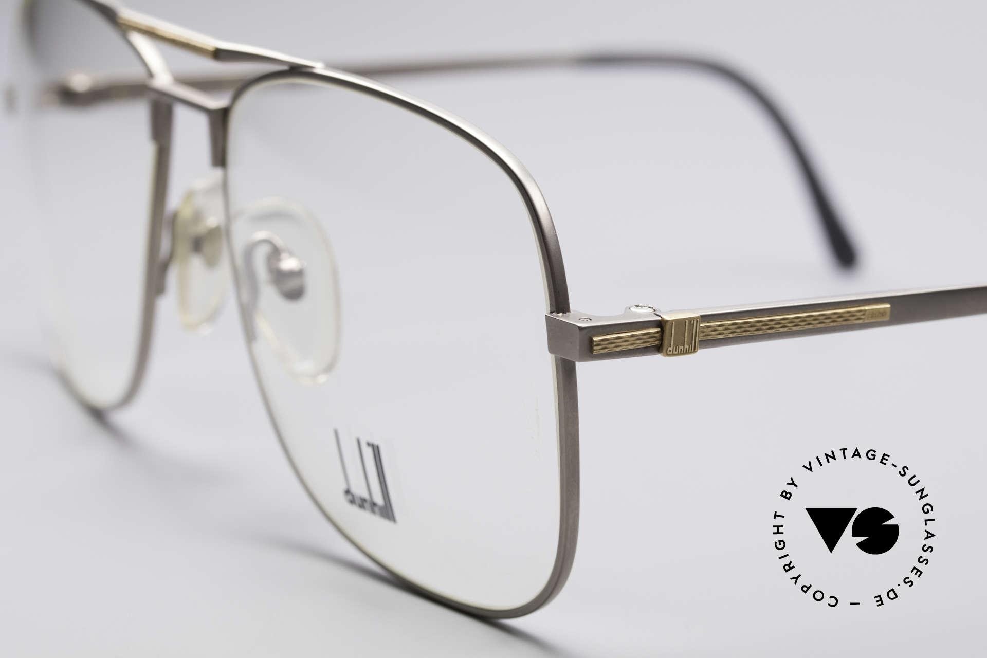 Dunhill 6038 18kt Gold Titanium Brille 80er, (heute werden Designerbrillen für <5,00 € produziert), Passend für Herren