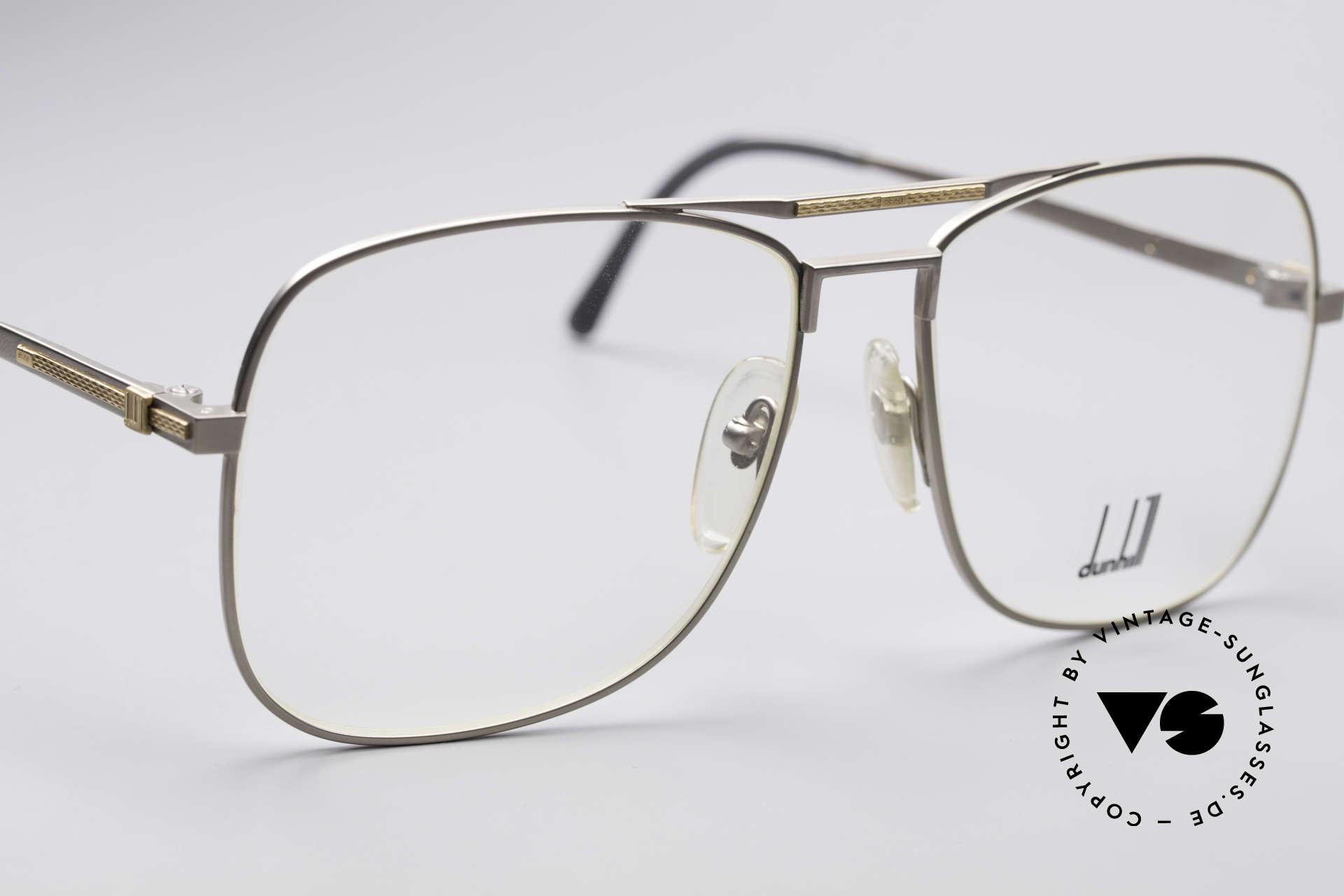 Dunhill 6038 18kt Gold Titanium Brille 80er, Fertigungskosten waren auch abhängig vom Goldpreis, Passend für Herren