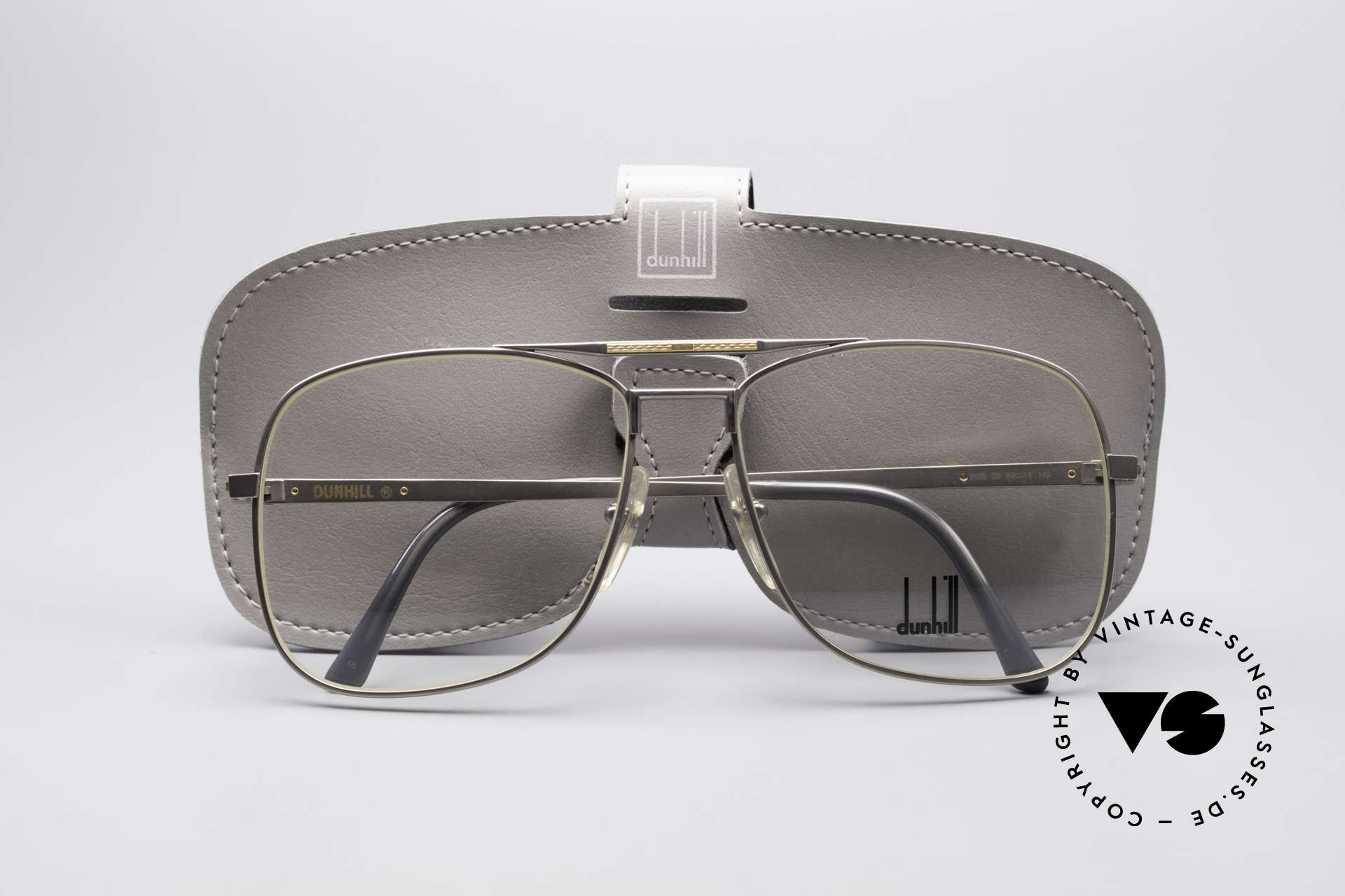 Dunhill 6038 18kt Gold Titanium Brille 80er, ein ungetragenes 80er Original mit Echtgold-Anteilen!, Passend für Herren