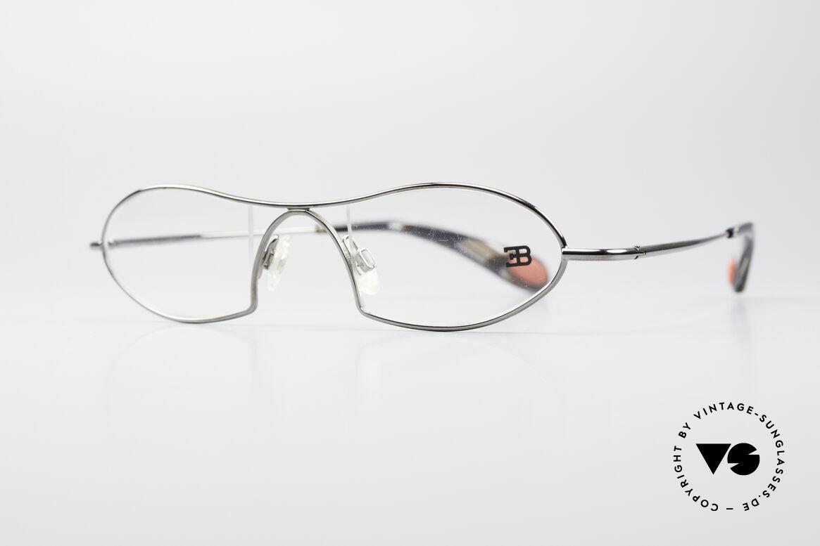 Bugatti 351 Odotype Rare Herren Designer Brille, ergonomischer Rahmen mit Federscharnieren, Passend für Herren
