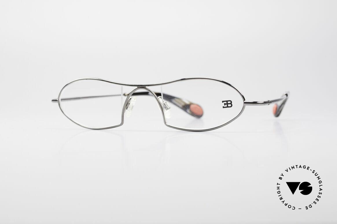 Bugatti 351 Odotype Rare Herren Designer Brille, unverwechselbares Design der Odotype-Serie, Passend für Herren