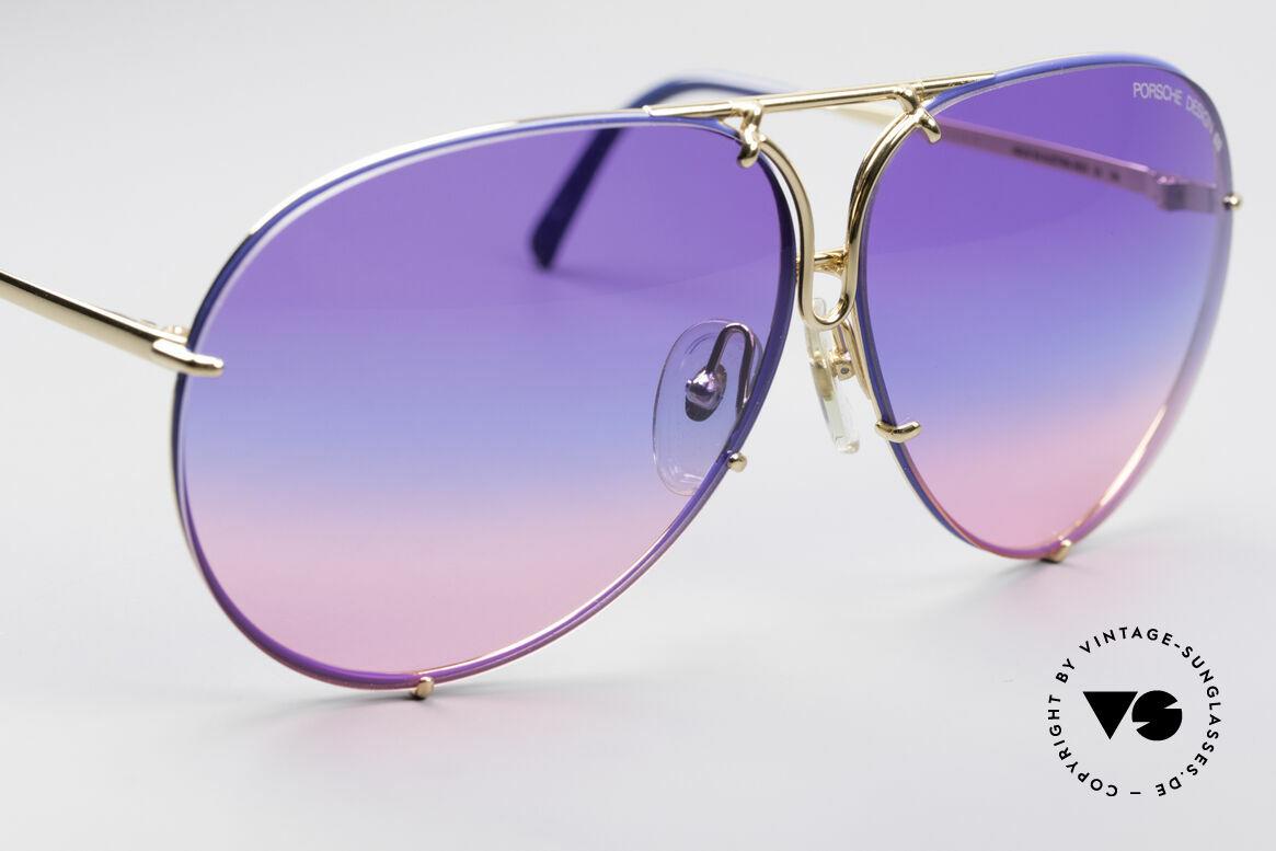 Porsche 5623 Tricolor Special Edition Brille, extrem seltene Wechselgläser in tricolor-Verlauf + grau, Passend für Herren und Damen