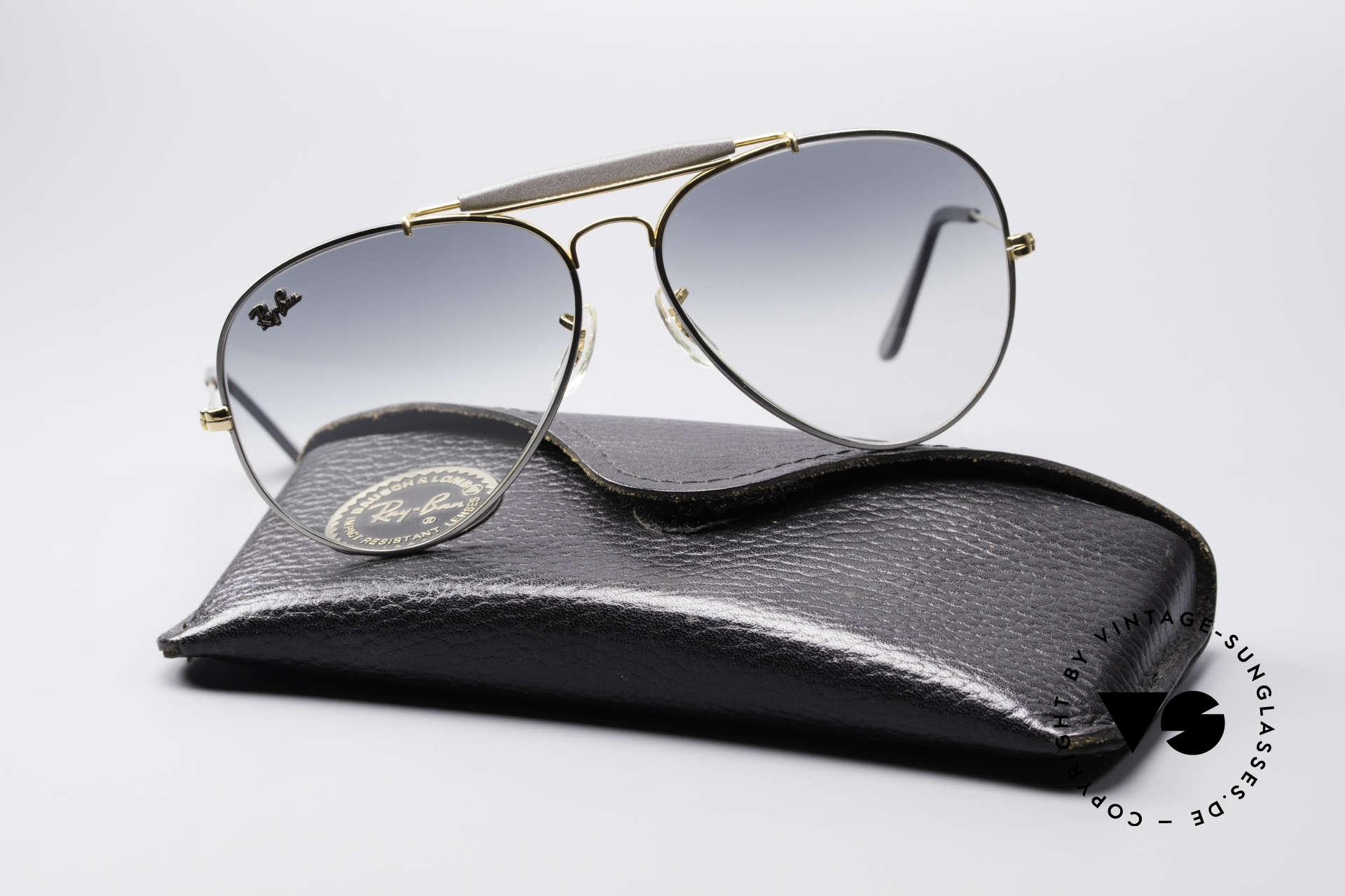 Sonnenbrillen Ray Ban Outdoorsman II Precious Metals Titanium   Vintage  Sunglasses 8a4b88c843ff