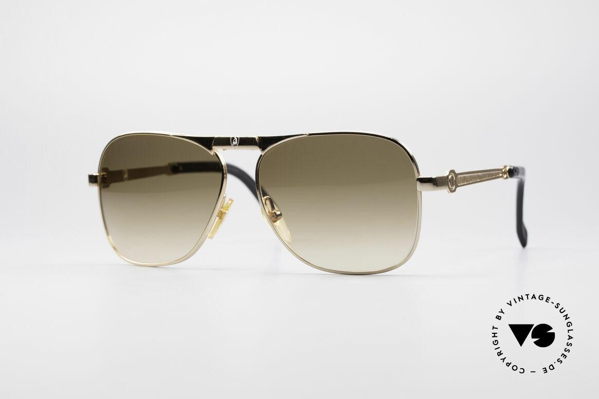 Lamborghini LT50/P Faltbare 80er Sonnenbrille, Tonino Lamborghini Vintage Faltsonnenbrille der 1980er, Passend für Herren