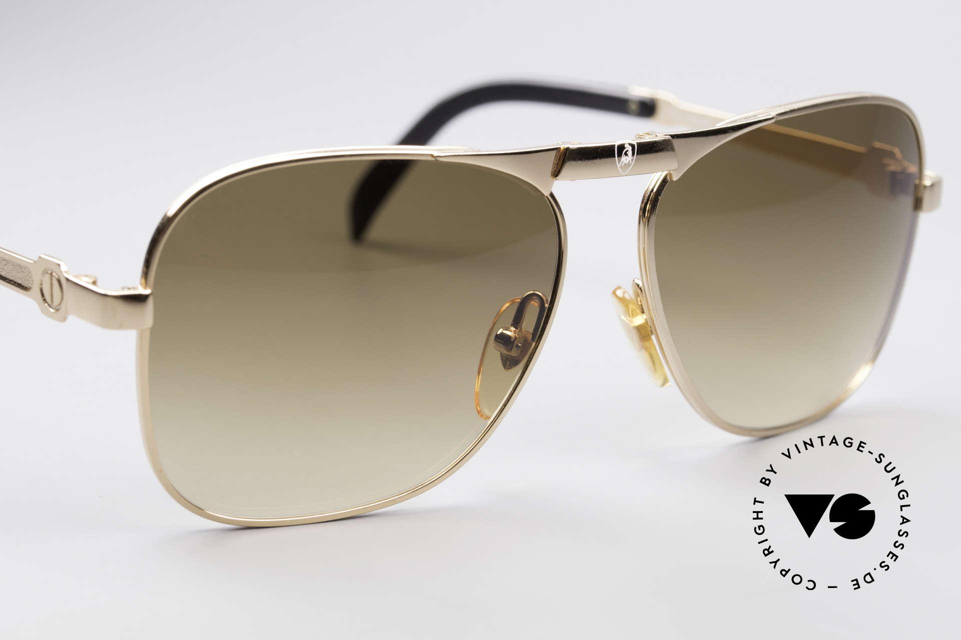 """Lamborghini LT50/P Faltbare 80er Sonnenbrille, auserlesene Falt-Sonnenbrille mit dem """"tobenden"""" Bullen, Passend für Herren"""