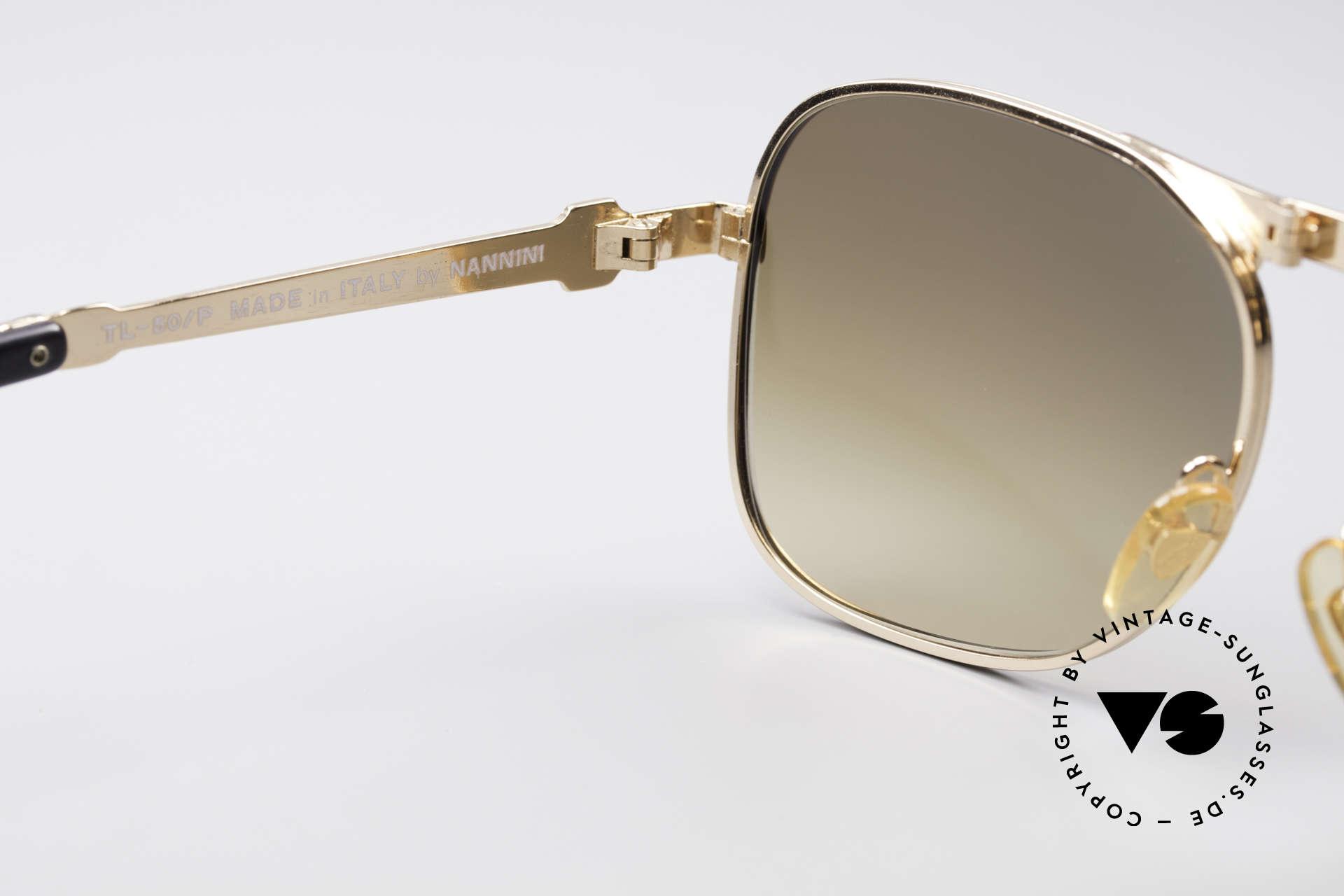 Lamborghini LT50/P Faltbare 80er Sonnenbrille, ungetragene Rarität, die man 'mit Vollgas' kaufen sollte ;), Passend für Herren