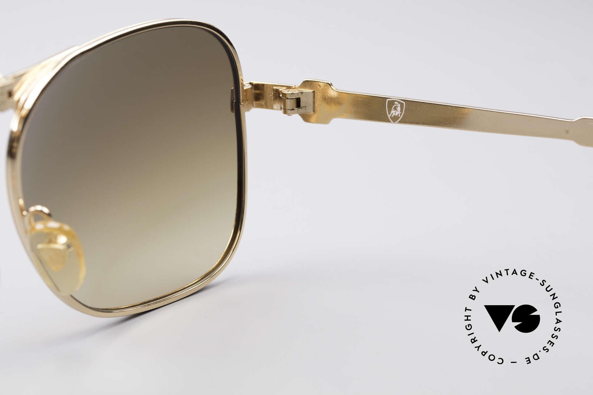 Lamborghini LT50/P Faltbare 80er Sonnenbrille, KEINE Retro-Sonnenbrille, sondern ein vintage ORIGINAL!, Passend für Herren