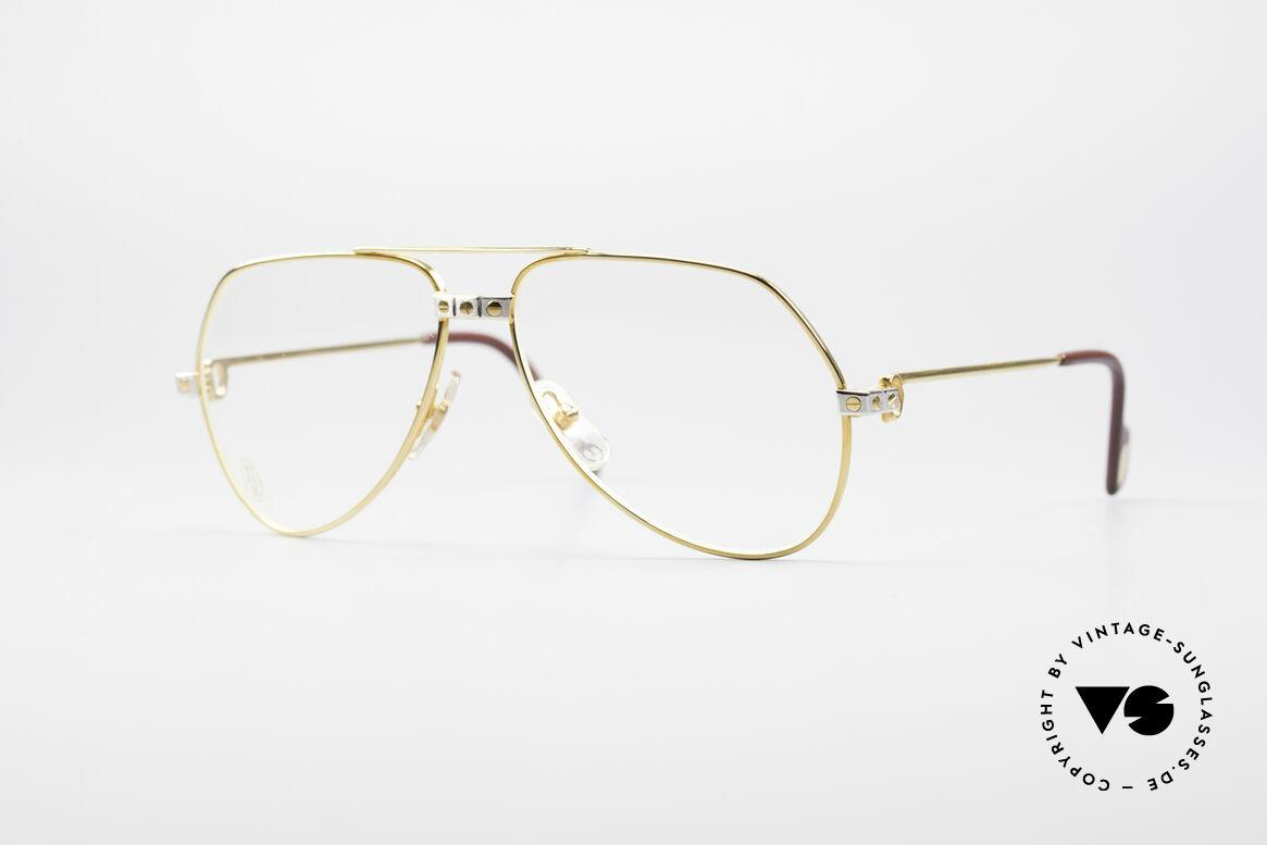 Cartier Vendome Santos - S James Bond Brille 80er Jahre, Vendome = das berühmteste Brillendesign von CARTIER, Passend für Herren und Damen