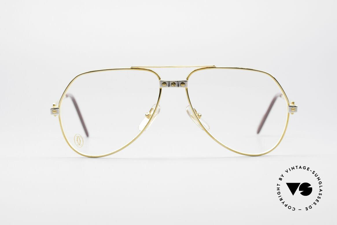 Cartier Vendome Santos - S James Bond Brille 80er Jahre, wurde 1983 veröffentlicht & dann bis 1997 produziert, Passend für Herren und Damen