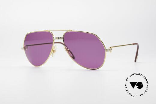 Cartier Vendome Santos - M 80er Luxus Sonnenbrille Details