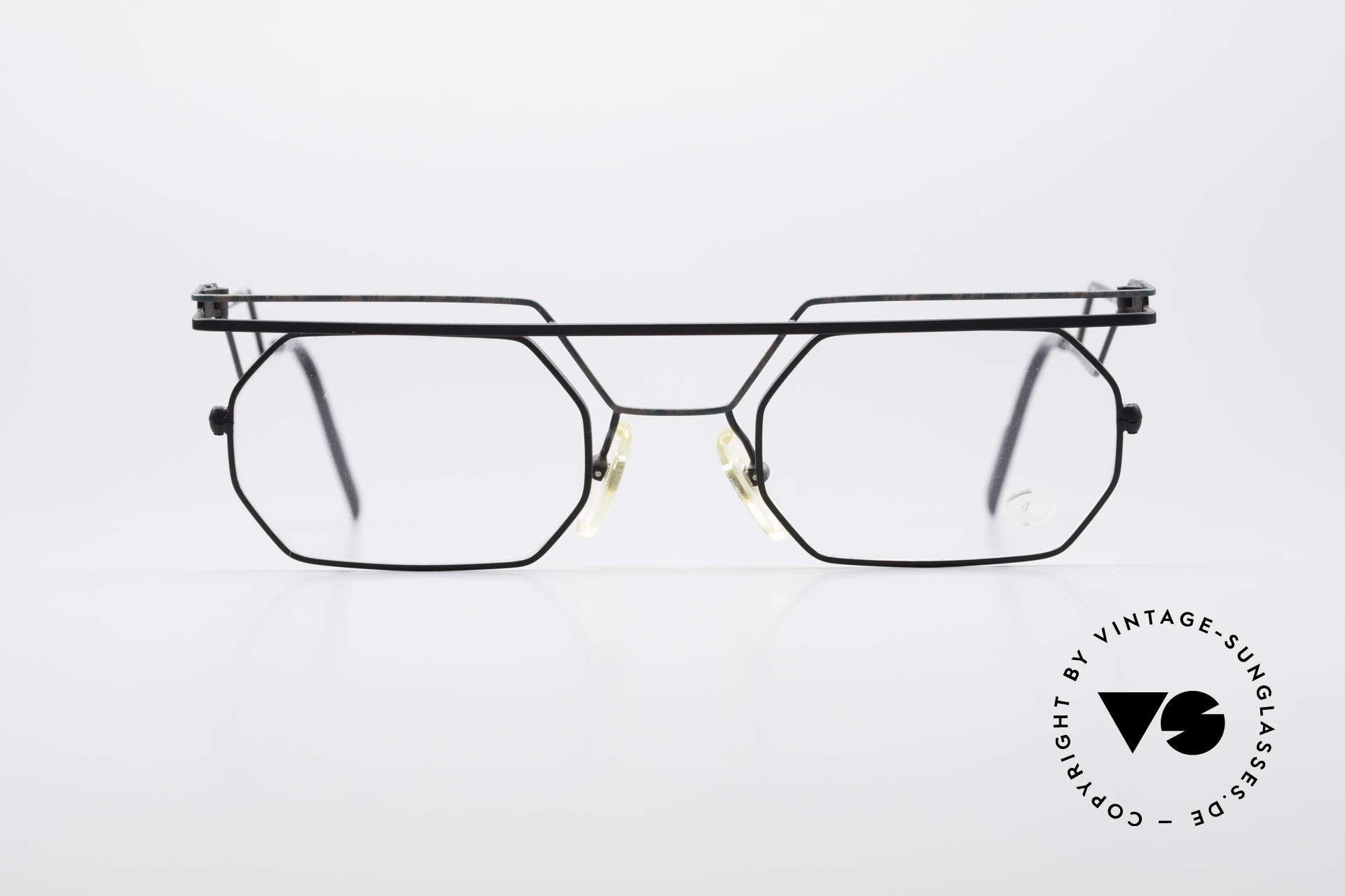 Serge Kirchhofer 1060 Futuristische 60er Brille, Serge Kirchhofer alias Udo Proksch designte für OPTYL, Passend für Herren und Damen