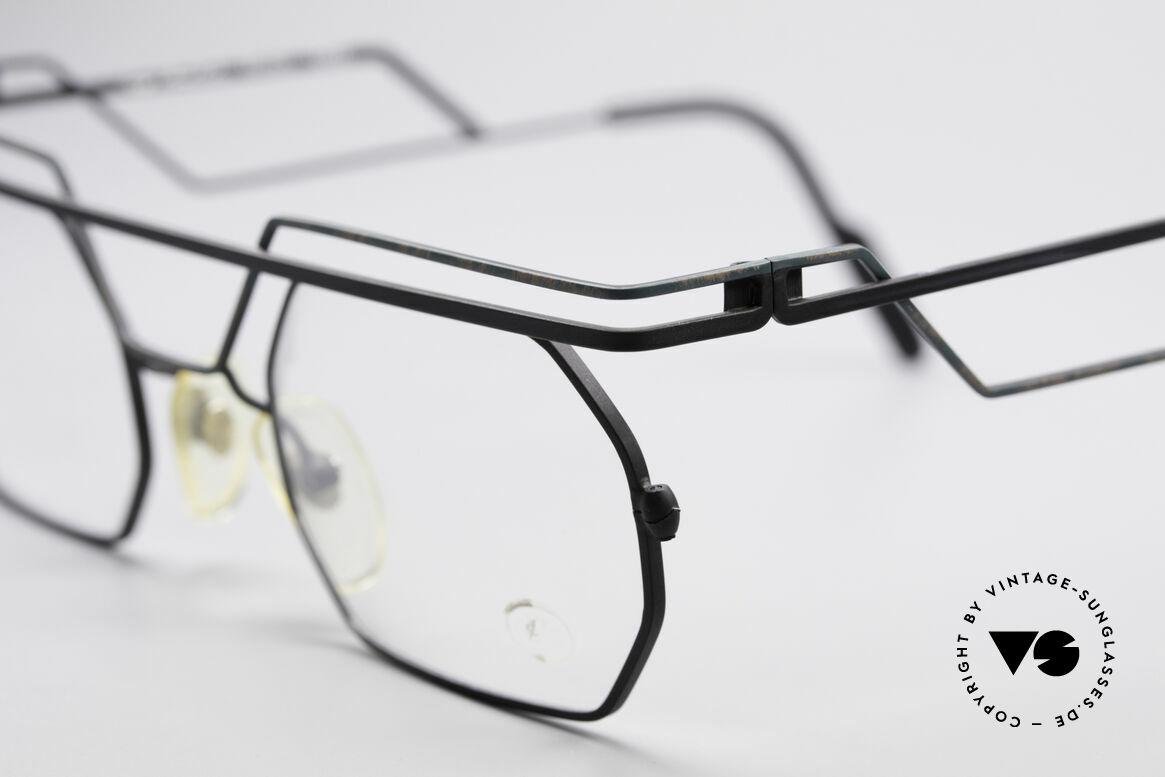 Serge Kirchhofer 1060 Futuristische 60er Brille, handgefertigtes Exemplar in ungetragenem Top-Zustand, Passend für Herren und Damen