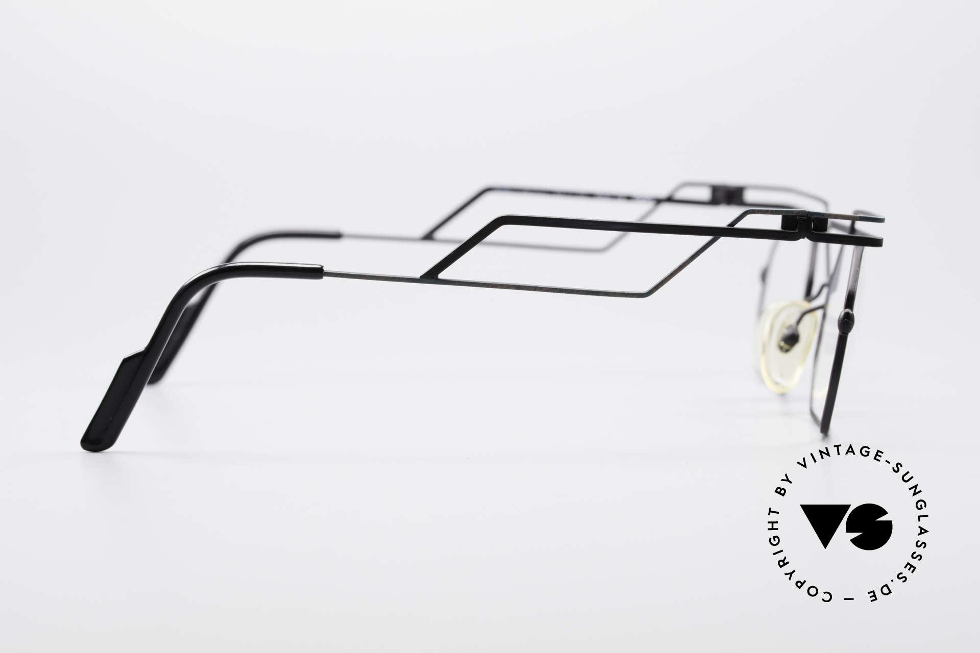 Serge Kirchhofer 1060 Futuristische 60er Brille, zudem funktional; Fassung kann beliebig verglast werden, Passend für Herren und Damen