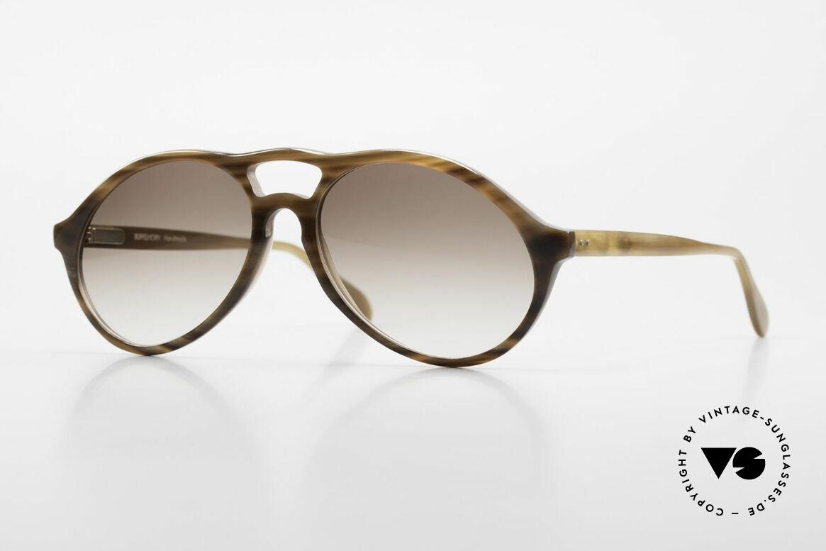 Bugatti 64852 Echt Büffelhorn Brille Vintage, extrem seltenes Designerstück aus echtem Büffelhorn, Passend für Herren
